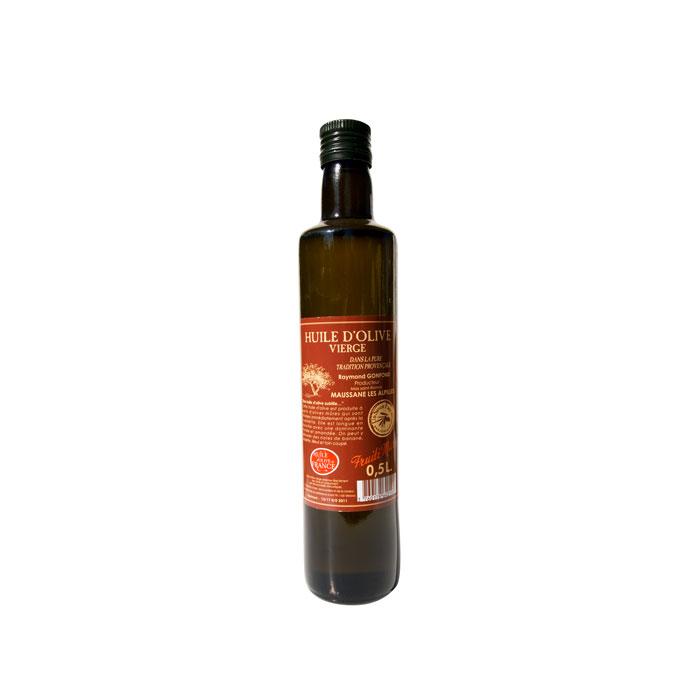 Bouteille de 50cl d'huile d'olive au fruité mûr