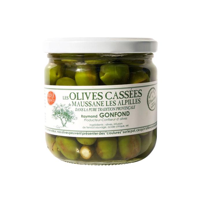 Pot en verre d'olives cassées 250g