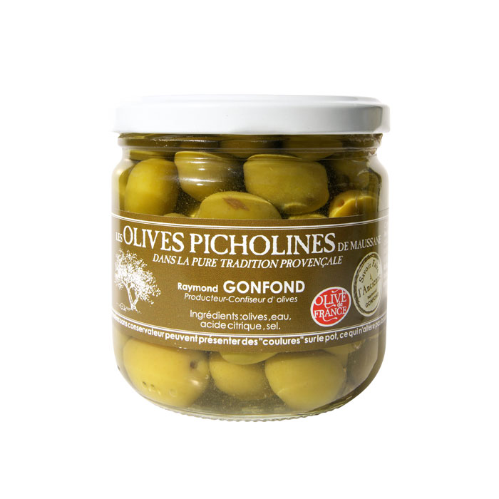 Pot en verre d'olives picholines 250g