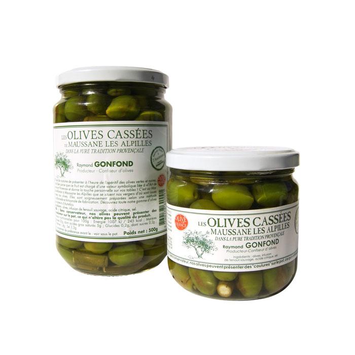 Pots d'olives cassées au fenouil