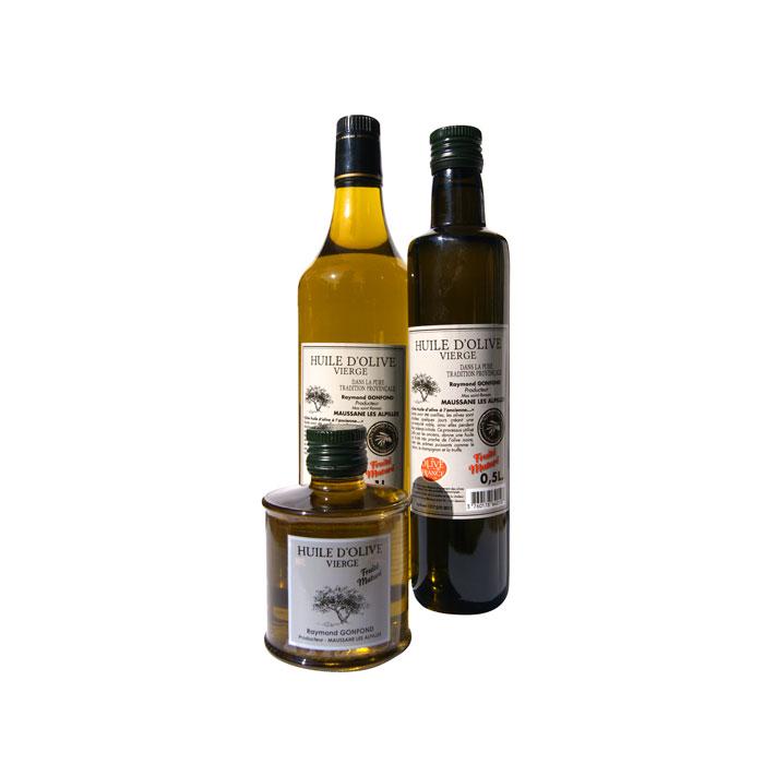Huiles d'olive au fruité Mâturé d'olives noires confites