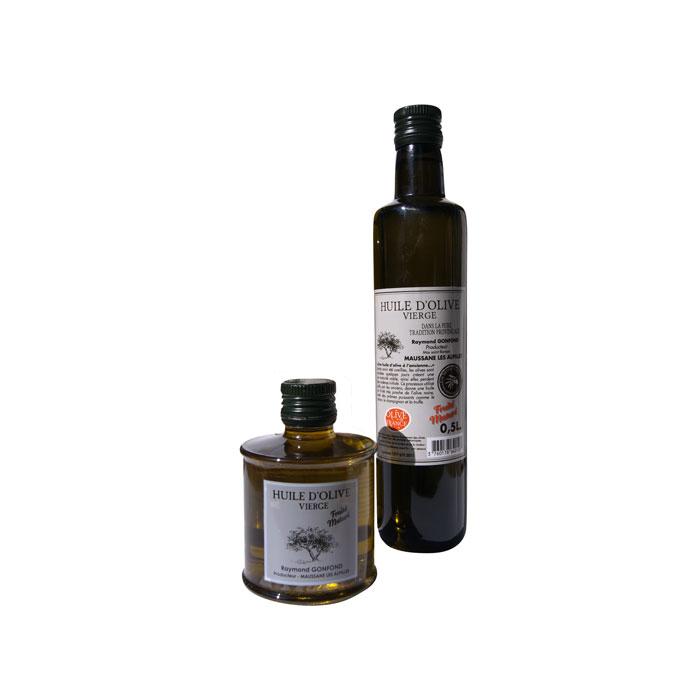 Petites Huiles d'olive au fruité Mâturé d'olives noires confites